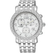 Drive from Citizen® Eco-Drive™ Womens Crystal Accent Chronograph Watch FB1290-58A