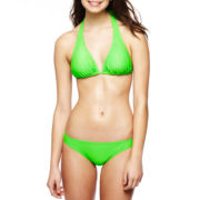 Arizona Solid Slider Halter Swim Top or Hipster Bottoms