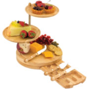 Picnic Time Regalio 3-Tier Cheeseboard Server