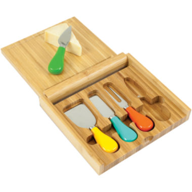 jcpenney.com | Picnic Time® Carnaval Bamboo Cheeseboard with Tools