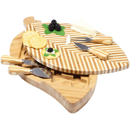 Picnic Time® Leaf Cheeseboard and Tools Set
