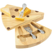 Picnic Time Swiss Cheese Board with Tools