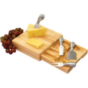 Picnic Time Festiva Cheese Board with Tools
