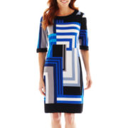 R&K Originals® Geometric Print Sheath Dress