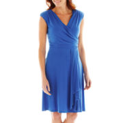 Alyx® Side-Drape Surplice Dress