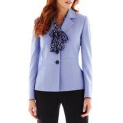 Le Suit® Inset-Waist Pant Suit with Scarf