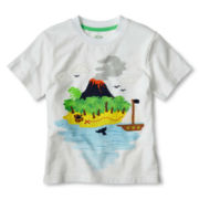 Joe Fresh™ White Appliqué Graphic Tee - Boys 1t-5t