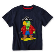 Joe Fresh™ Navy Appliqué Graphic Tee - Boys 1t-5t