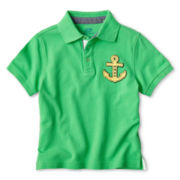Joe Fresh™ Green Short-Sleeve Polo Shirt - Boys 1t-5t