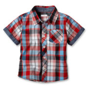 Joe Fresh™ Short-Sleeve Plaid Shirt - Boys 1t-5t