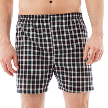 jcpenney.com | Stafford® 3-pk. Woven Blended Cotton Boxers