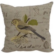 Lydia Bird Embroidered Decorative Pillow