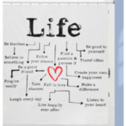 Life Chart PEVA Shower Curtain