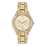 Citizen® Eco-Drive® Silhouette Womens Crystal-Accent Bracelet Watch FD2012-52P