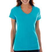 St. John's Bay® Short-Sleeve V-Neck Tee