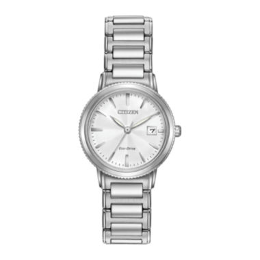 jcpenney.com | Citizen® Eco-Drive Silhouette Sport Womens Stainless Steel Bracelet Watch EW2370-57A