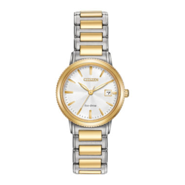 jcpenney.com | Citizen® Eco-Drive Silhouette Sport Womens Two-Tone Stainless Steel Bracelet Watch EW2374-56A