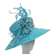 Whittall & Shon Beaded Long-Brim Hat