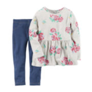 Carter's® Floral Top and Jeggings Set - Toddler Girls 2t-5t