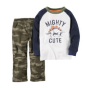 Carter's® Raglan-Sleeve Tee and Pants Set - Toddler Boys 2t-5t