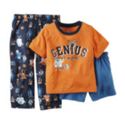 Carter's® 3-pc. Pajama Set - Toddler Boys 2t-5t
