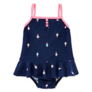 Carter's® 1-pc. Ice Cream Swimsuit - Baby Girls 3m-24m