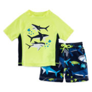 Carter's® 2-pc. Shark Rashguard Set - Baby Boys 3m-24m