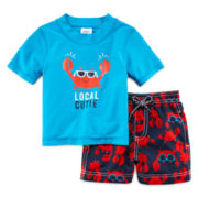 Carter's® 2-pc. Crab Rashguard Swim Set - Baby Boys 3m-24m