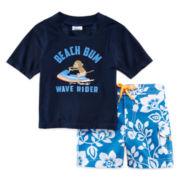 Carter's® 2-pc. Monkey Rashguard Swim Set - Baby Boys 3m-24m
