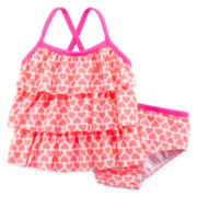 Carter's® 2-pc. Ruffle Swim Set - Baby Girls 3m-24m