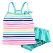 Carter's® 2-pc. Striped Swim Set - Baby Girls 3m-24m