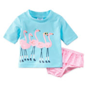 Carter's® 2-pc. Flamingo Rashguard Set - Baby Girls 3m-24m