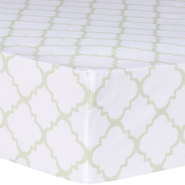 jcpenney.com | Trend Lab® Sea Foam Quatrefoil Fitted Crib Sheet