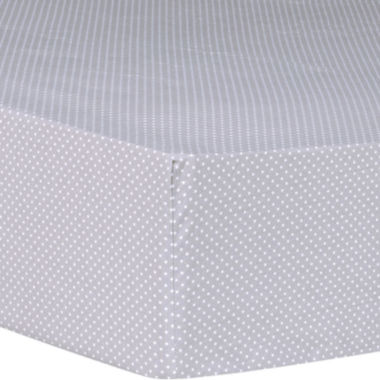 jcpenney.com | Trend Lab® Safari Chevron Dot Fitted Crib Sheet