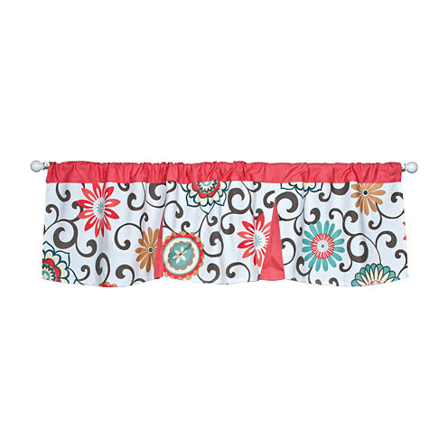 Waverly® Baby by Trend Lab® Pom Pom Play Pleated Window Valance