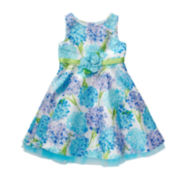 Youngland® Floral Dress with Shrug - Toddler Girls 2t-4t