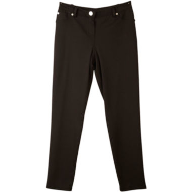 by&by Girl Skinny Black Ponte Pants Girls 7 16