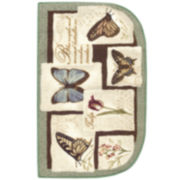 Birds or Butterflies Washable Wedge Rug