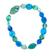 Dazzling Designs™ Blue Glass Bead Stretch Bracelet