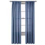 MarthaWindow™ Tremont Rod-Pocket/Back-Tab Linen/Cotton Curtain Panel