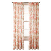 MarthaWindow™ Hydrangea Rod-Pocket Cotton Curtain Panel