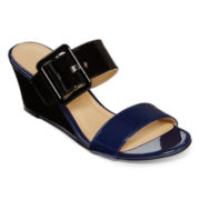 CL by Laundry Tonya Buckle Strap Wedges