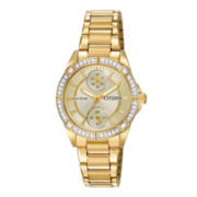 Drive from Citizen® Eco-Drive® Womens Crystal-Accent Bracelet Watch FD3002-51P