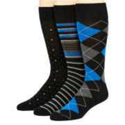 Stafford® 3-pk. Cotton-Rich Crew Socks–Big & Tall