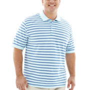 IZOD® Oxford Stripe Piqué Polo–Big & Tall