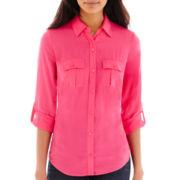 a.n.a® 2-Pocket Rayon Shirt - Petite