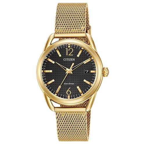 Drive from Citizen Womens Gold Tone Bracelet Watch-Fe6082-59e