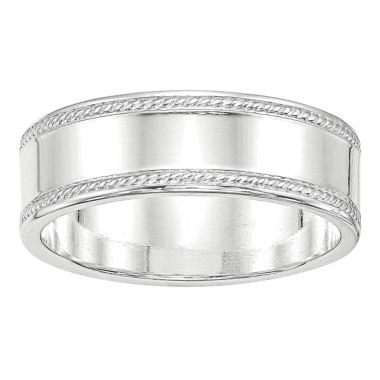 jcpenney.com | Personalized Womens Sterling Silver Wedding Band