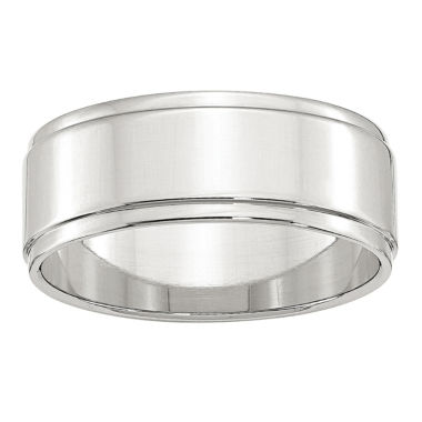jcpenney.com | Personalized Mens Sterling Silver Wedding Band