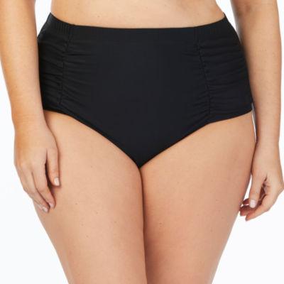 Boutique +  High Waist Swimsuit Bottom-Plus